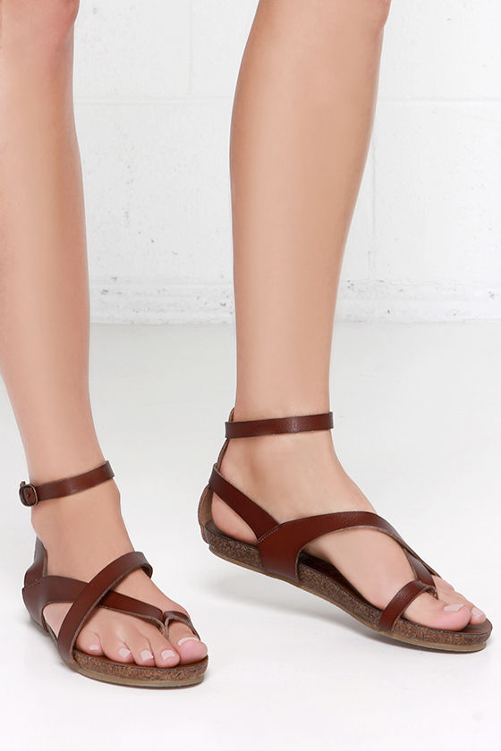 814a444c2 Cute Brown Sandals - Gladiator Sandals - Strappy Sandals -  46.00