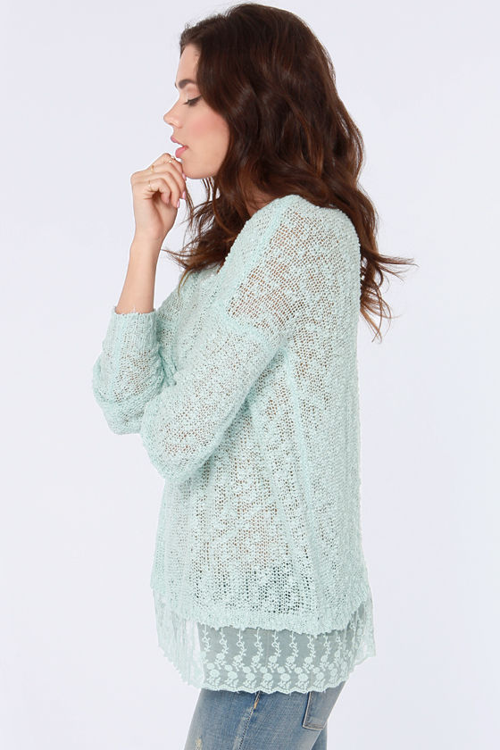 My Fair Lacy Light Blue Sweater at Lulus.com!