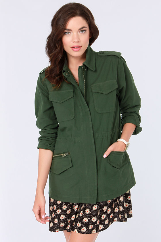 BB Dakota Monrovia Army Green Jacket at Lulus.com!