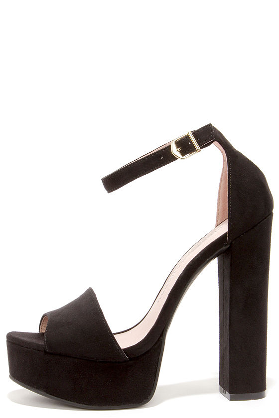 Cute Black Heels - Platform Heels - Platform Pumps - $69.00