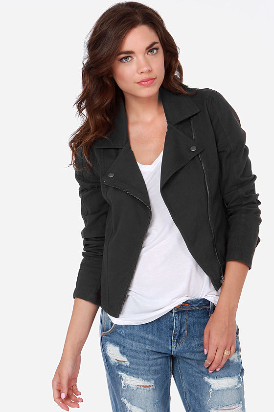 RVCA Agnes Washed Black Jacket at Lulus.com!