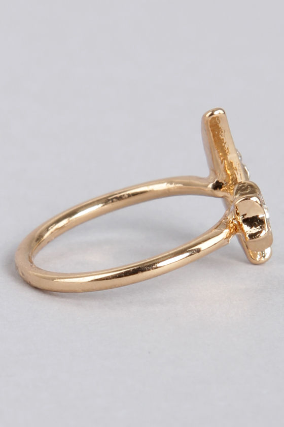 Ask For the Moon Gold Knuckle Ring at Lulus.com!