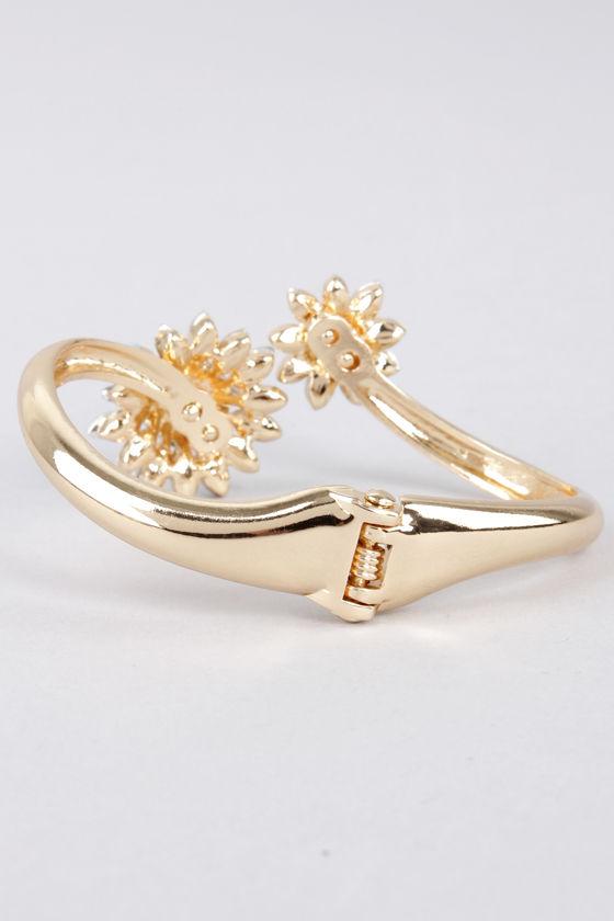 Arc My Words Peach Rhinestone Bracelet at Lulus.com!