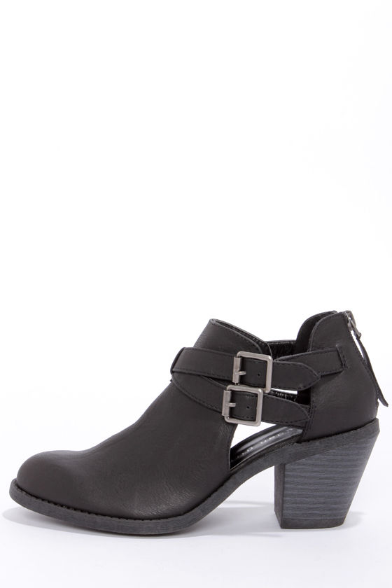 Madden Girl Genus - Black Boots - Ankle Boots - Cutout Boots - $59.00