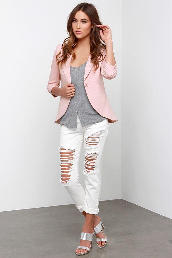 Cute Blush Blazer - Pink Blazer - Women's Blazer - $57.00