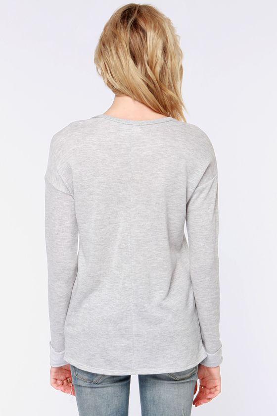 Deer To My Heart Light Grey Sweater at Lulus.com!