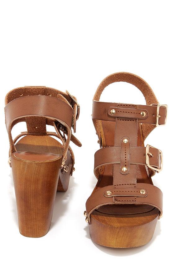 0c00b36cc590d Cute Brown Heels - High Heel Sandals - Caged Sandals -  34.00