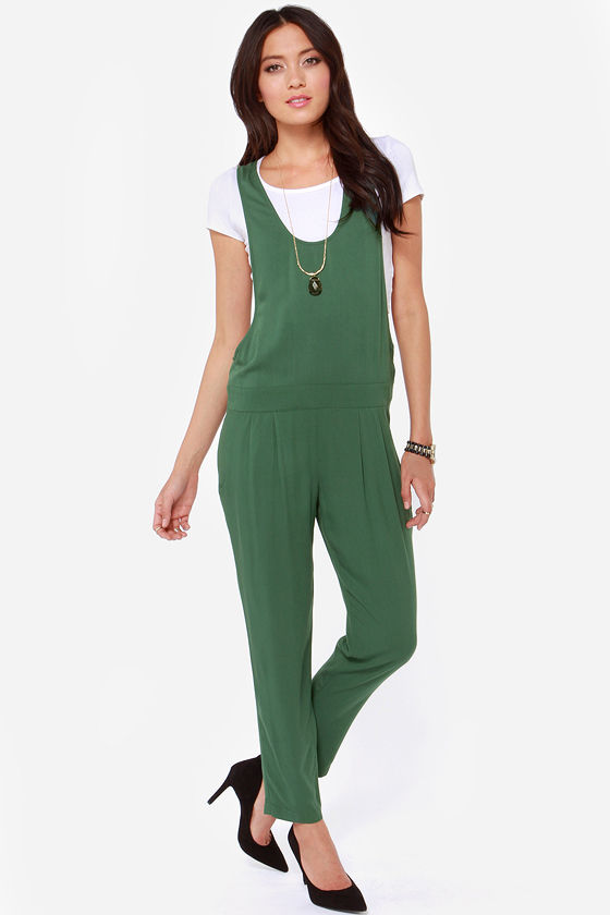 BB Dakota Ray Army Green Jumpsuit at Lulus.com!
