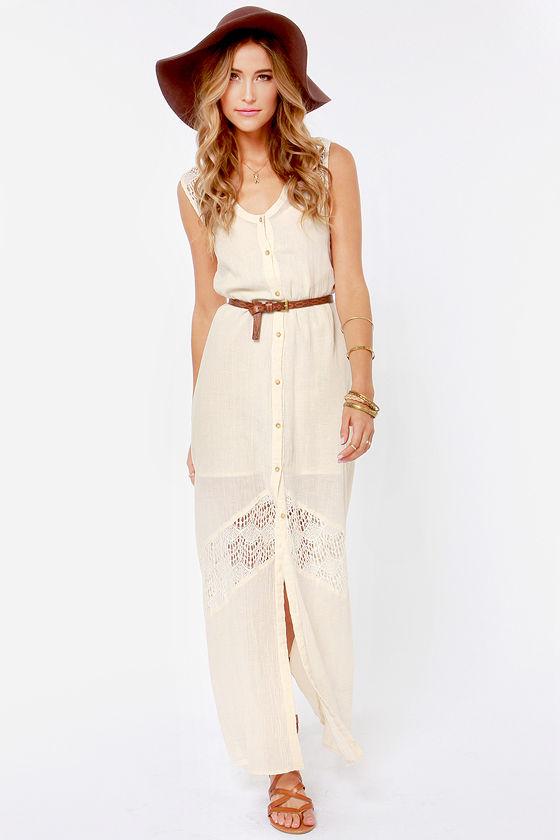 White or cream maxi dresses