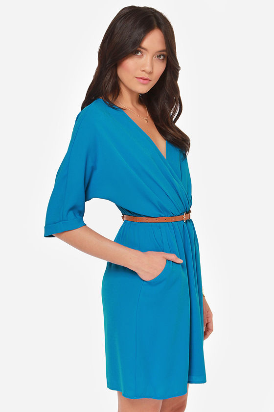 Day by Day Belted Blue Dress at Lulus.com!