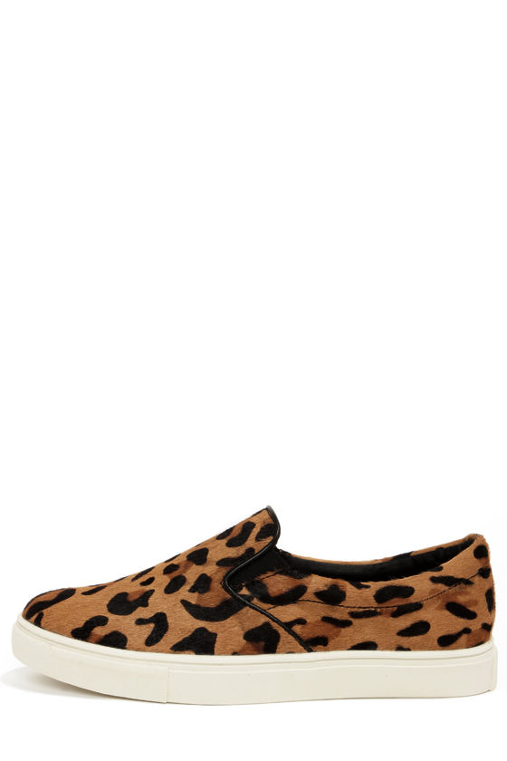 fb7eb166f5be Steve Madden Ecentric - Leopard Print Shoes - Pony Fur Shoes - Animal Print  Flats - $99.00