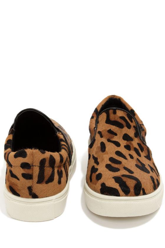 Steve Madden Ecentric Leopard Print Pony Fur Flats at Lulus.com!