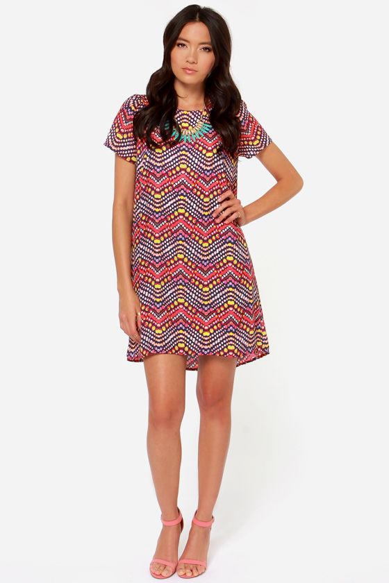 Cute Red Dress - Babydoll Dress - Shift Dress - $49.00