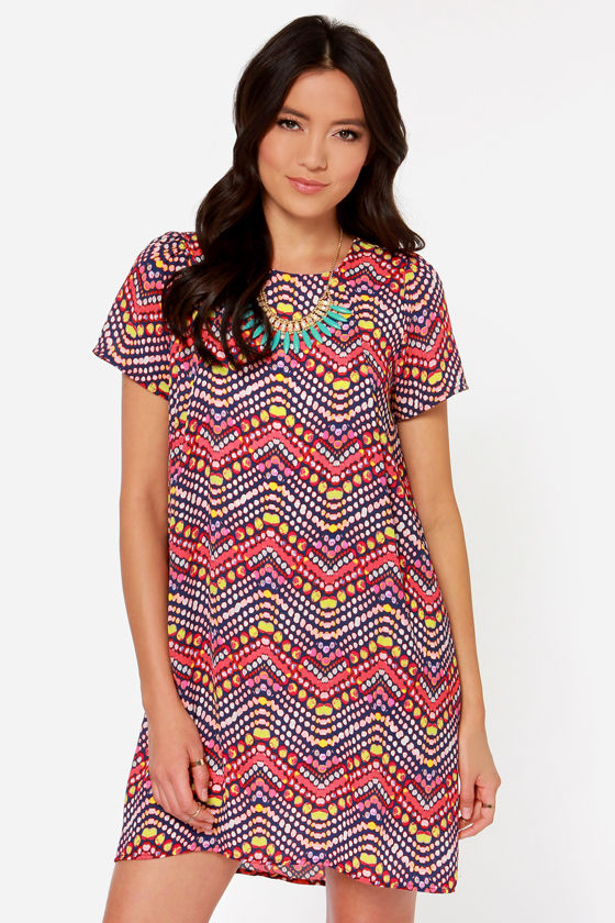 Mesmerize on the Prize Red Print Dress at Lulus.com!