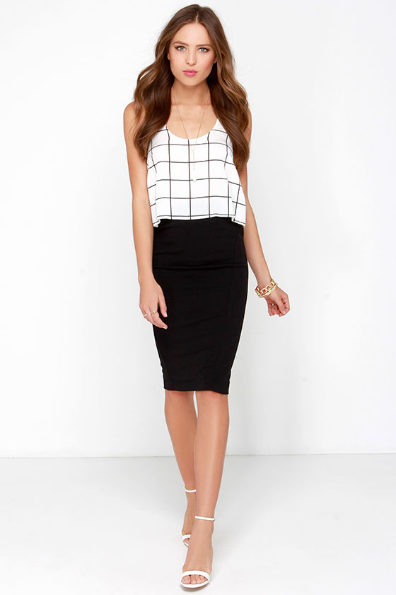 Cute Black Skirt - Pencil Skirt - Midi Skirt - $42.00