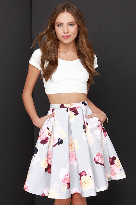 Keepsake Divide Skirt - Floral Print Skirt - Midi Skirt - $179.00