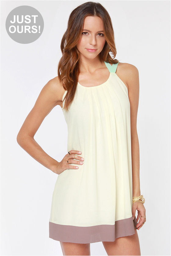 LULUS Exclusive Sorbet Soiree Cream Shift Dress at Lulus.com!