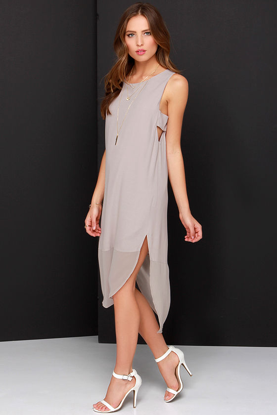 factory authentic official supplier good looking Move Your Body Light Taupe Sleeveless Shift Dress