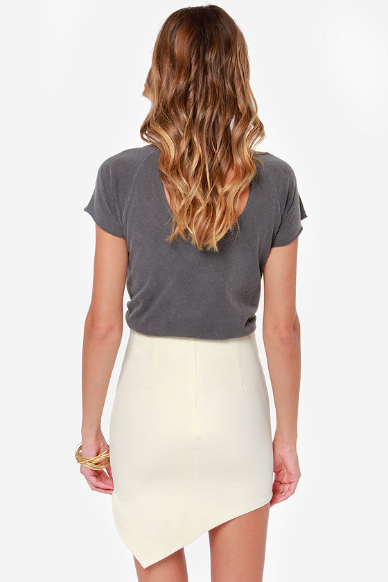 Breaking Point Asymmetrical Cream Skirt at Lulus.com!