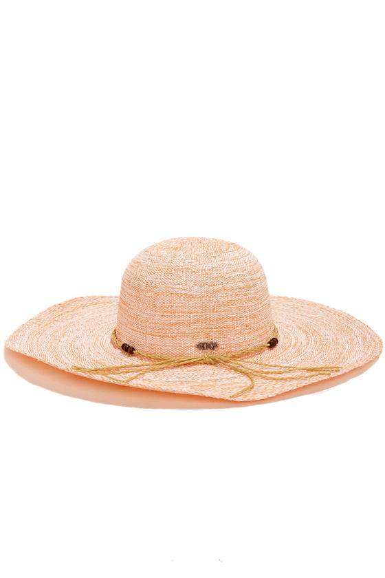 Roxy By the Sea Coral Orange Straw Hat at Lulus.com!