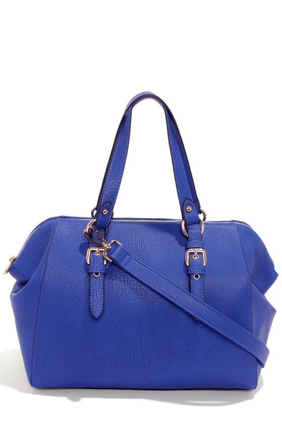 Cute Blue Purse - Vegan Leather Purse - Blue Handbag - $45.00
