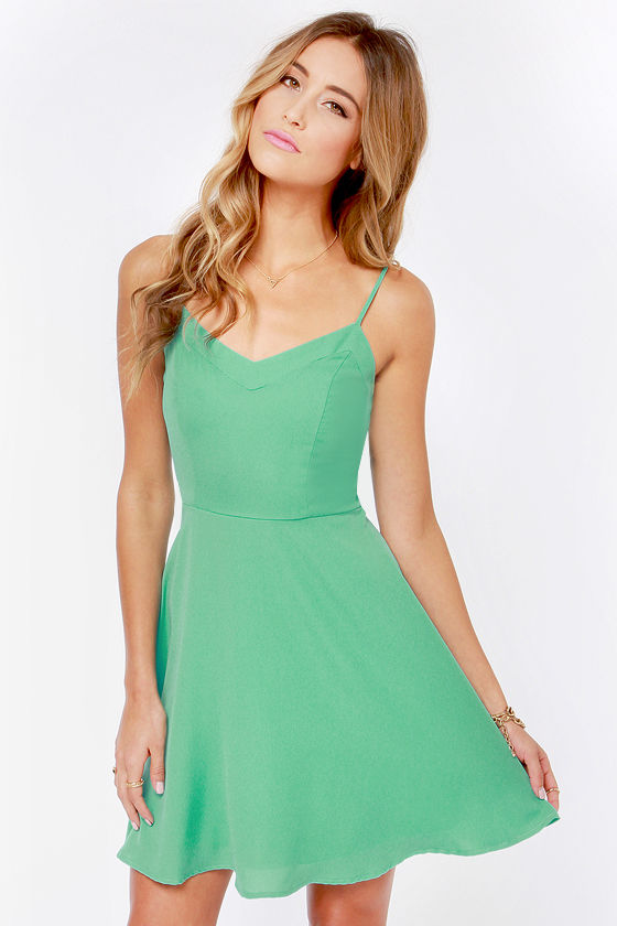 Cute Mint Dress - Skater Dress - Sleeveless Dress -  45.00 ac28bc8e6