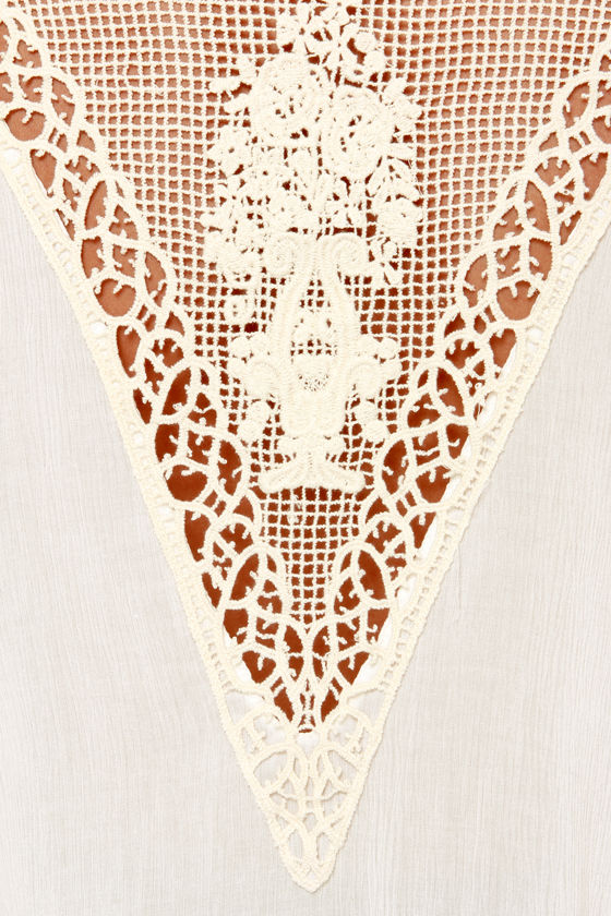 Bohemian Dreams Ivory Lace Top at Lulus.com!