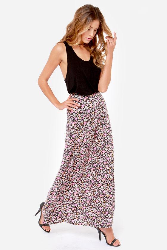 Element Eden Juliet Black Floral Print Skirt at Lulus.com!