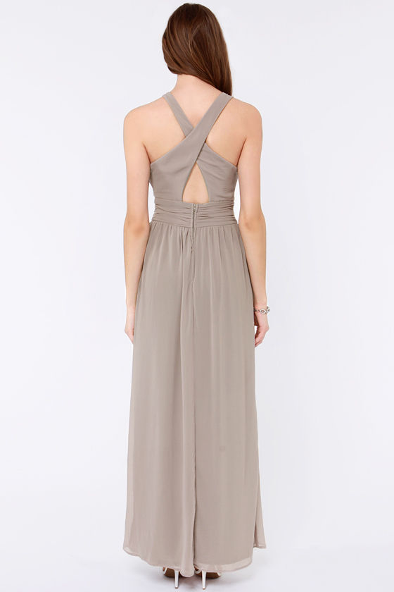 LULUS Exclusive The Ethereal Deal Grey Maxi Dress at Lulus.com!