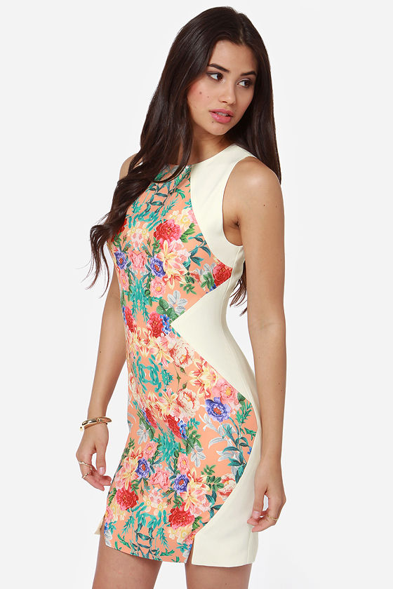 Keepsake Check Point Ivory Floral Print Dress at Lulus.com!