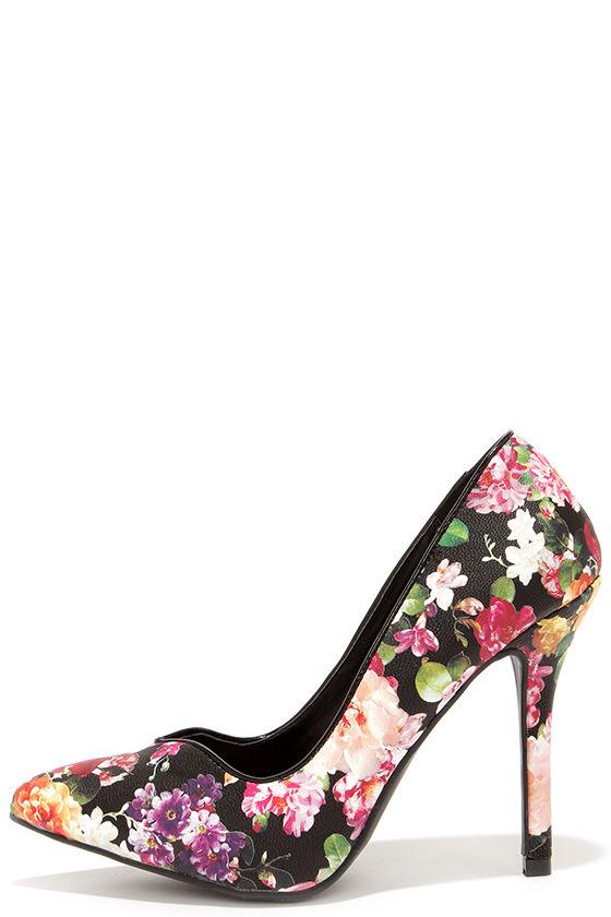 Small Heel Shoes Black
