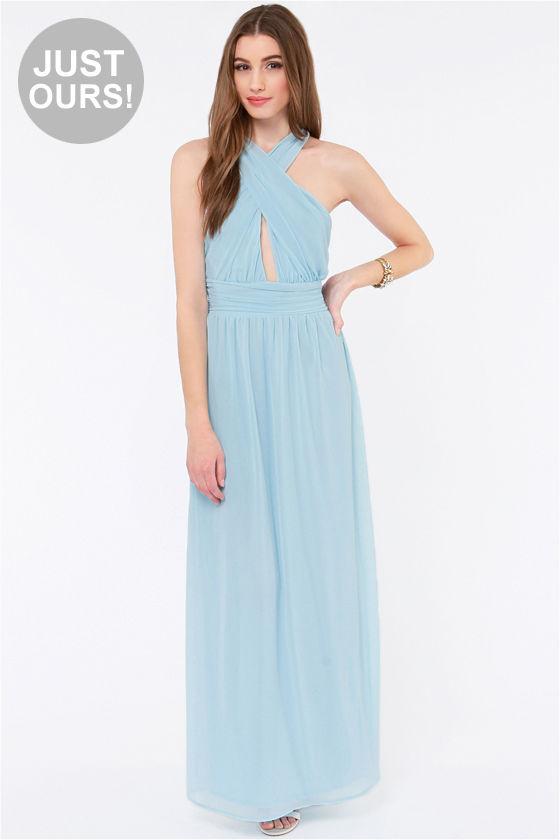 Pretty Light Blue Dress - Chiffon Dress - Maxi Dress - $62.00