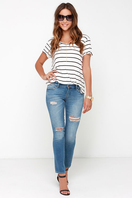 Dittos Selena Jeans - Skinny Jeans - Ankle Jeans - Distressed ...