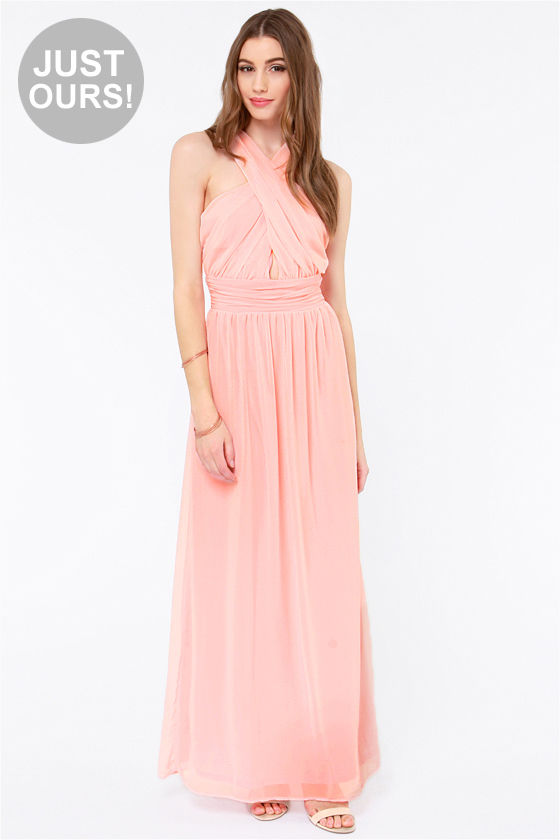 Pretty Light Pink Dress - Chiffon Dress - Maxi Dress - $62.00