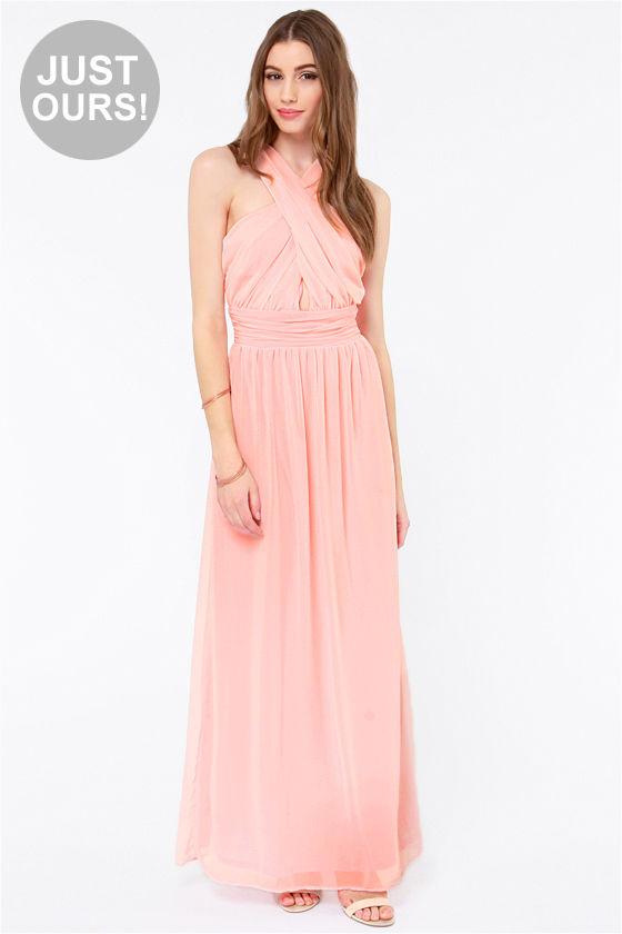 Pretty Light Pink Dress - Chiffon Dress - Maxi Dress - $62.00