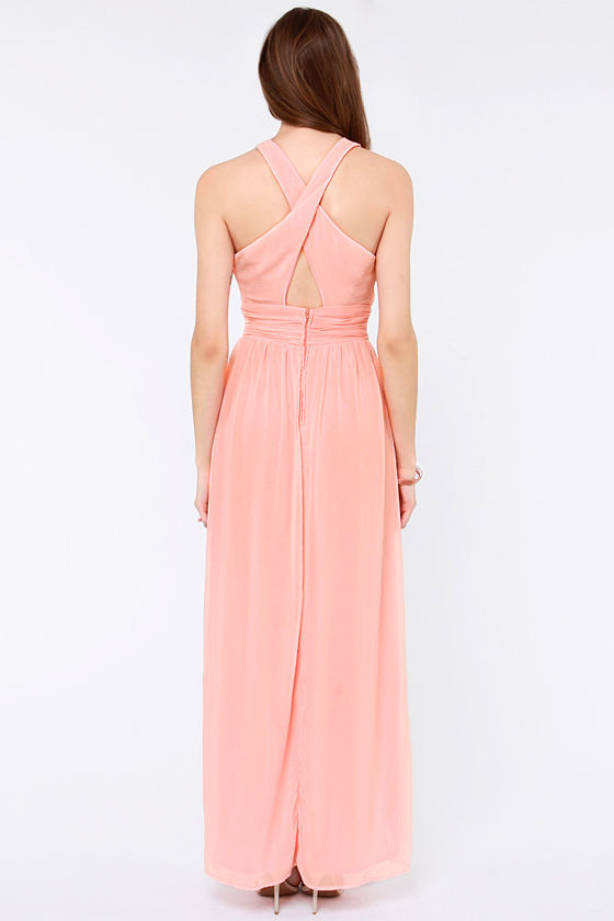 LULUS Exclusive The Ethereal Deal Light Pink Maxi Dress at Lulus.com!
