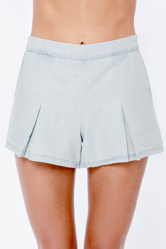 Jack by BB Dakota Cirrus Chambray Shorts at Lulus.com!
