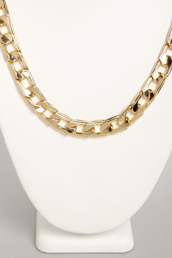 A Matter of Flat Gold Chain Necklace at Lulus.com!