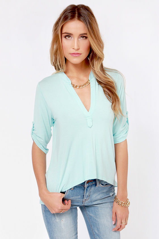 Lucy Love Fairbanks Light Blue Top at Lulus.com!