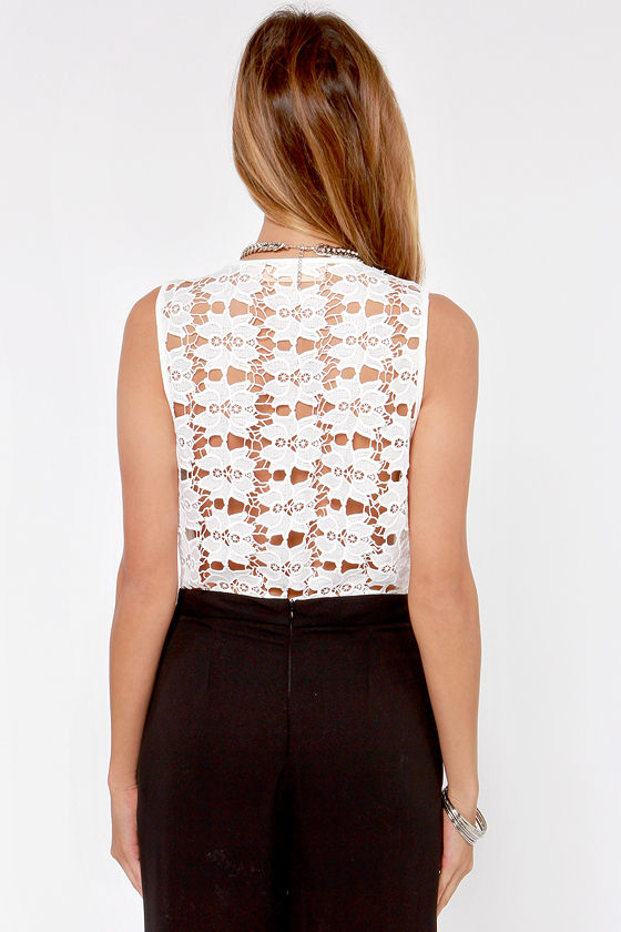 Reverse Lacy Embrace Ivory Lace Bodysuit at Lulus.com!