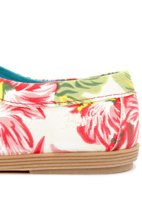 Blowfish Gesso Off White Tropical Print Lace-Up Sneakers at Lulus.com!