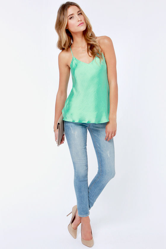128461811fc800 Sexy Mint Green Top - Tank Top - Mint Camisole -  34.00