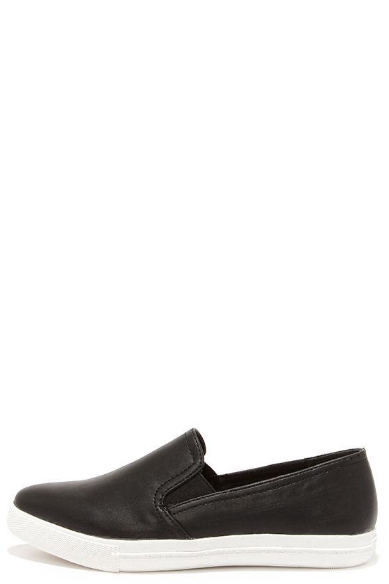 Steve Madden Vicktori Black Pointed Slip On Sneakers