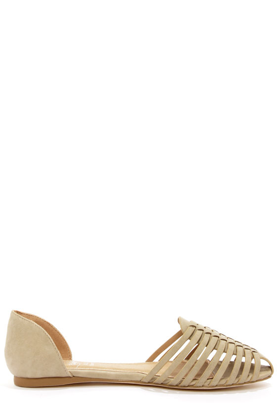 Good Choice Rose Ivory Woven D'Orsay Flats at Lulus.com!