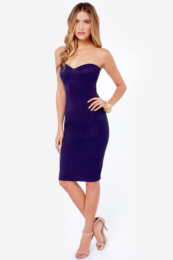 LULUS Exclusive Give Me a Bustier Indigo Blue Bodycon Dress at Lulus.com!