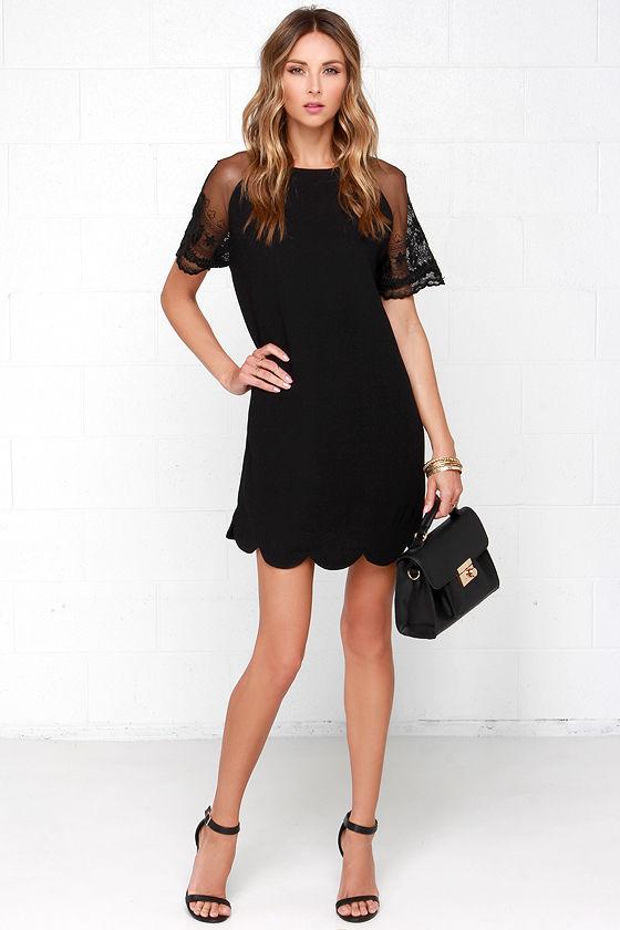 db7f6d9902e2 Cute Black Dress - Shift Dress - Lace Dress - LBD - $66.00