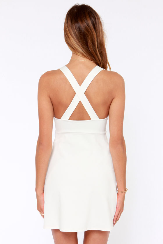 Step Aside Ivory Dress at Lulus.com!