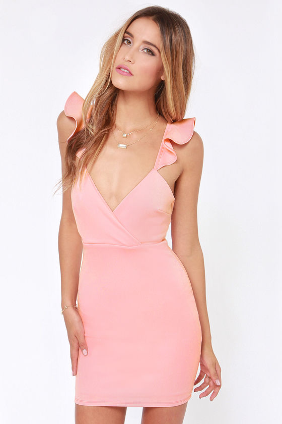 Sexy Pink Dress - Light Pink Dress - Backless Dress - Bodycon ...
