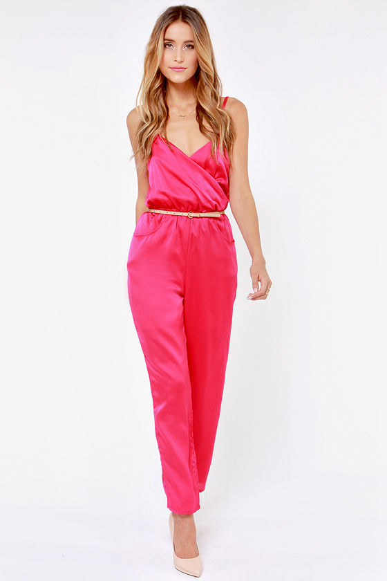 Let it Linger Pink Jumpsuit at Lulus.com!
