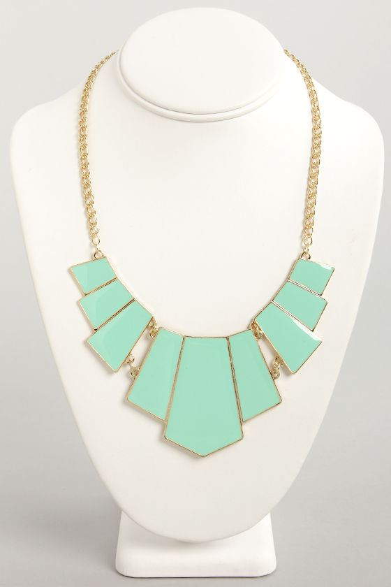 Bedrock and Roll Mint Green Statement Necklace at Lulus.com!